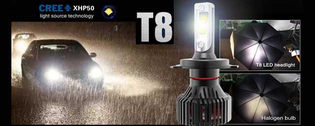 T8 LED HEADLIGHT